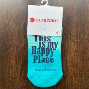 """Pure Barre """"This is My Happy Place"""" Sticky Socks"""
